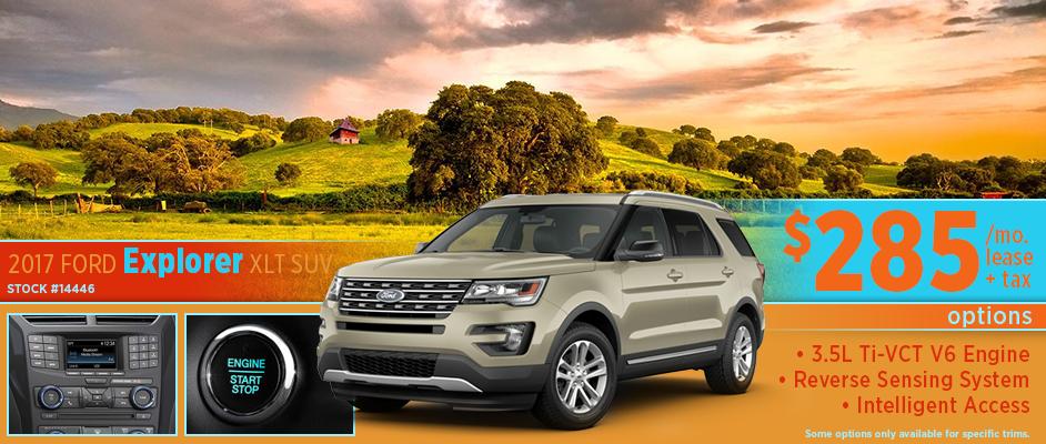 2017 Ford Explorer XLT Low Payment Lease Special Serving Hutchinson, KS