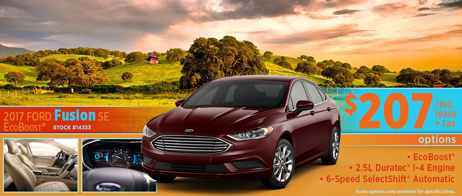 2017 Ford Fusion SE Ecoboost Lease Special in Wichita, KS