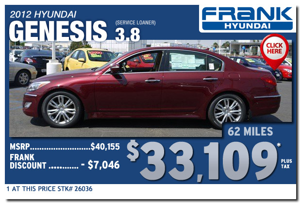 service loaner 2012 hyundai genesis 38 sale special serving san diego california national city