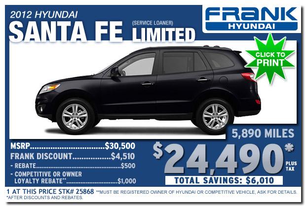 New Hyundai Santa Fe Sales And Lease Specials Frank Hyundai