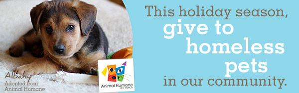 New Mexico Animal Humane Society Gift Donation