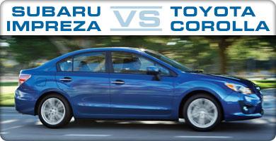 Subaru Impreza vs Toyota Corolla Comparison serving Albuquerque,  Santa Fe, North Valley, South Valley, Rio Rancho, Bernalillo