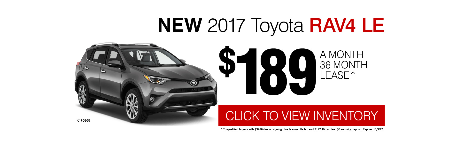 2017 Toyota RAV4 LE Lease Special in Chicago, IL