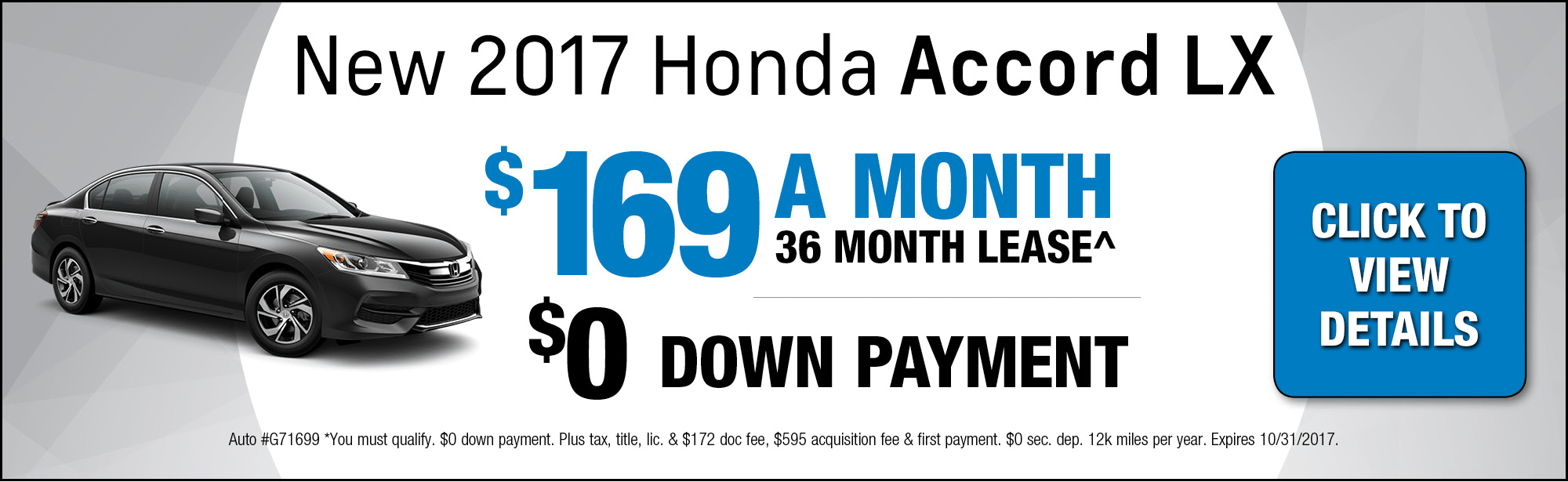 2017 Honda Accord LX Lease Special in Chicago, IL