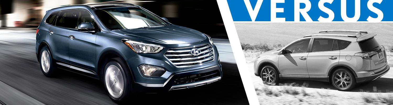 2016 Hyundai Santa Fe Vs 2016 Toyota Rav4 Model Comparison