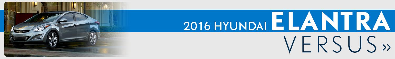 2016 Hyundai Elantra Sedan Model Comparisons
