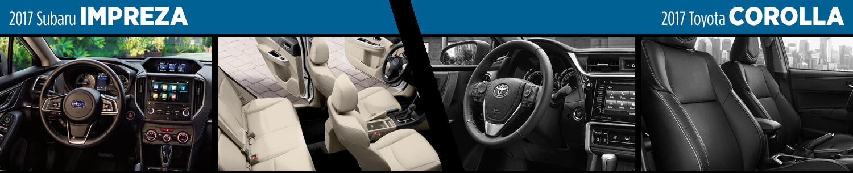 2017 Subaru Impreza vs 2017 Toyota Corolla Interior Comparison