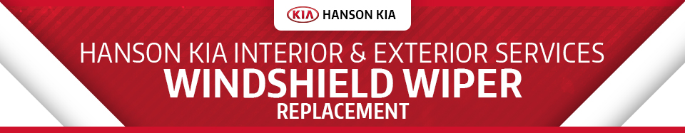 Kia windshield wiper replacement service information for Hanson motors service department