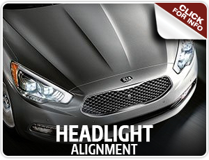 Click to view our Kia headlight alignment service information in Olympia, WA