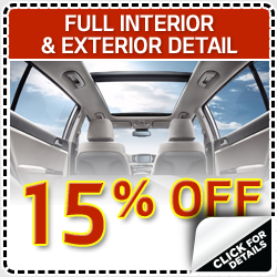 Click to view our full exterior and interior detail service special in Olympia, WA