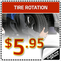 Click to view our tire rotation service special in Olympia, WA
