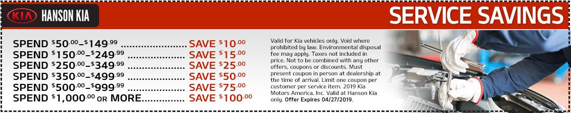 Kia Spend More and Save More Service Special in Olympia, WA