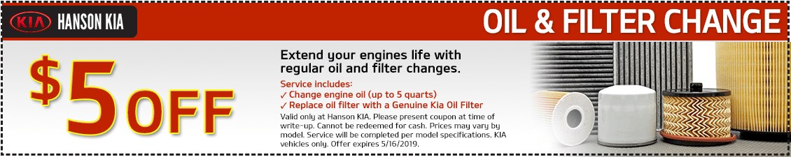 Kia Lube, Oil & Filter Change Service Special in Olympia, WA