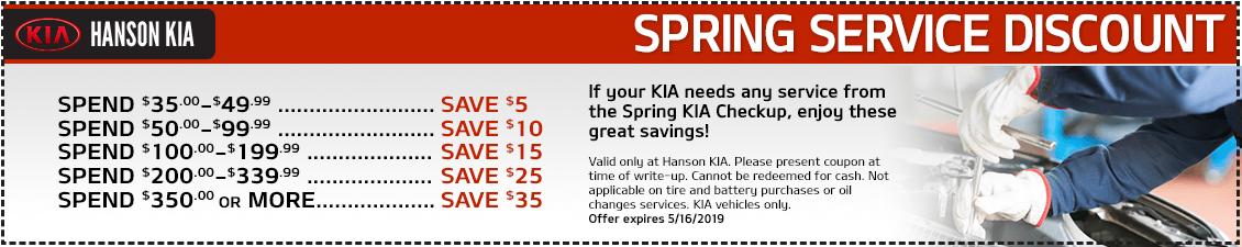 Kia Spring Spend More Save More Service Special in Olympia, WA