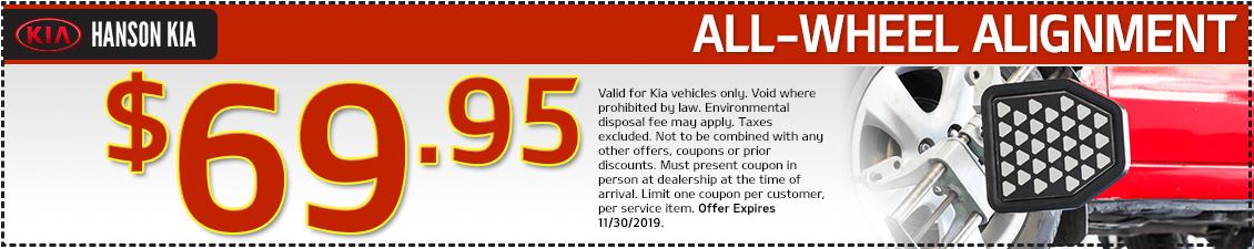 Kia Alignment Service Special in Olympia, WA