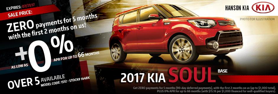 Purchase a New 2017 Kia Soul from Hanson Kia in Olympia, WA