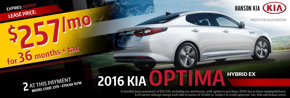 Purchase a New 2017 Kia Optima Hybrid from Hanson Kia in Olympia, WA