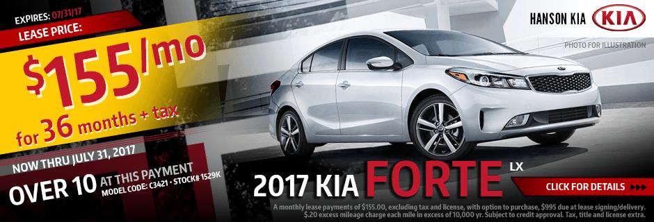 Lease a New 2017 Kia Forte from Hanson Kia in Olympia, WA