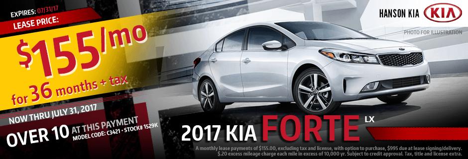 Purchase a New 2017 Kia Forte from Hanson Kia in Olympia, WA