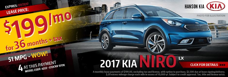 Purchase a New 2017 Kia Niro from Hanson Kia in Olympia, WA