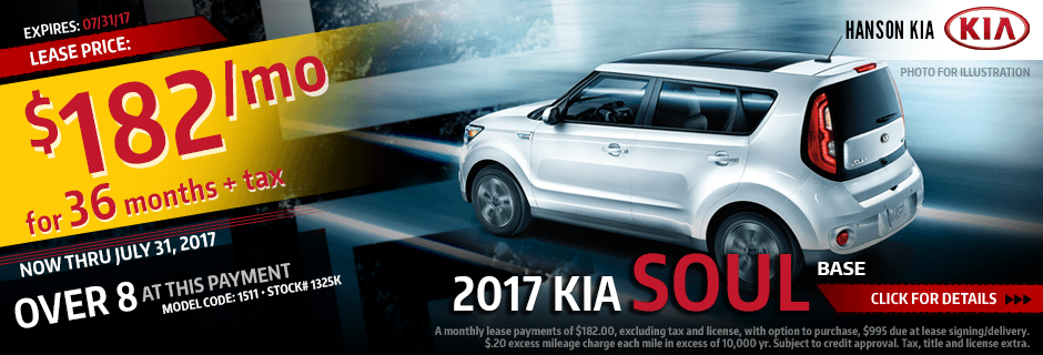 Lease a New 2017 Kia Soul from Hanson Kia in Olympia, WA