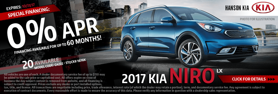 Click to View Our 2017 Kia Niro LX Special Financing in Olympia, WA