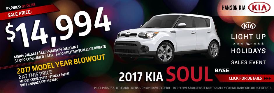 2017 Kia Soul Base Purchase Savings Special in Olympia, WA