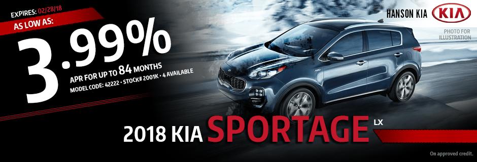2018 Kia Sportage Special Finance savings offer in Olympia, WA