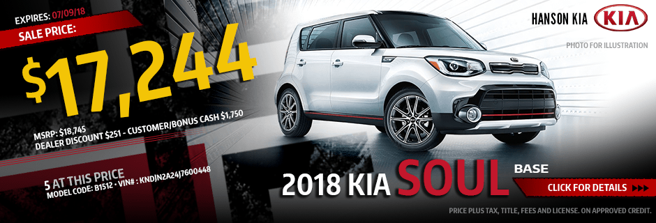 Save on a 2018 Kia Soul Base purchase in Olympia, WA