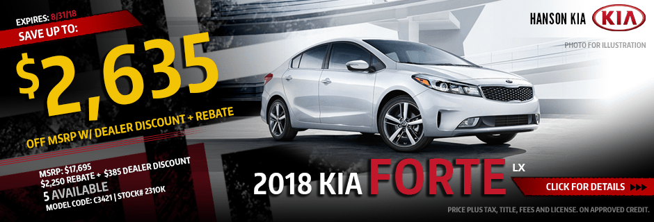 2018 Kia Forte LX Purchase Special savings offer in Olympia, WA