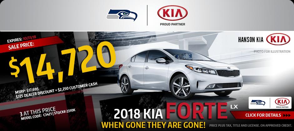 2018 Kia Forte LX Sales Specials In Olympia, WA
