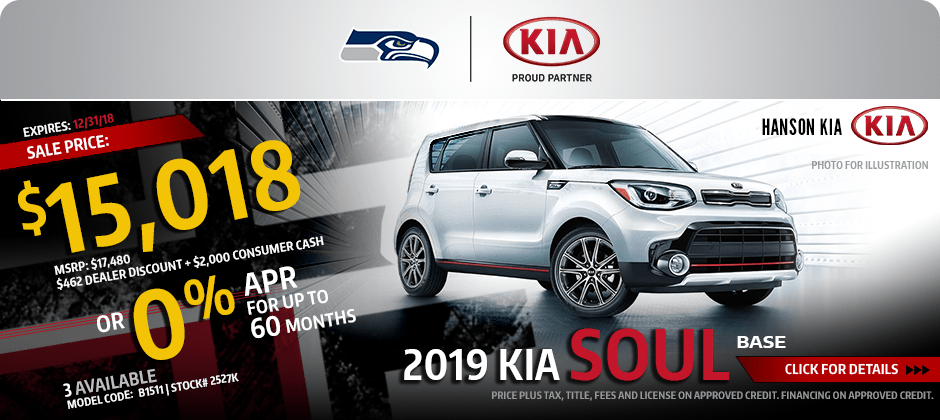 2019 Kia Soul Base Low APR or Sales Special in Olympia, WA