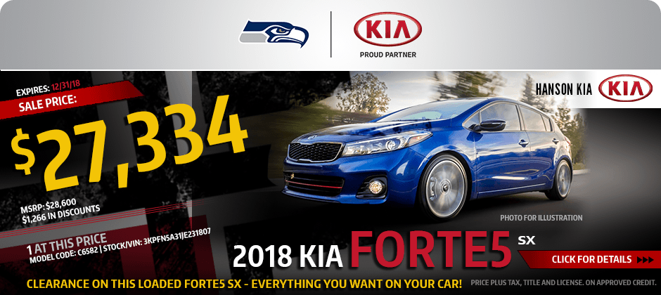 2018 Kia Optima Forte5 SX Special purchase savings offer in Olympia, WA