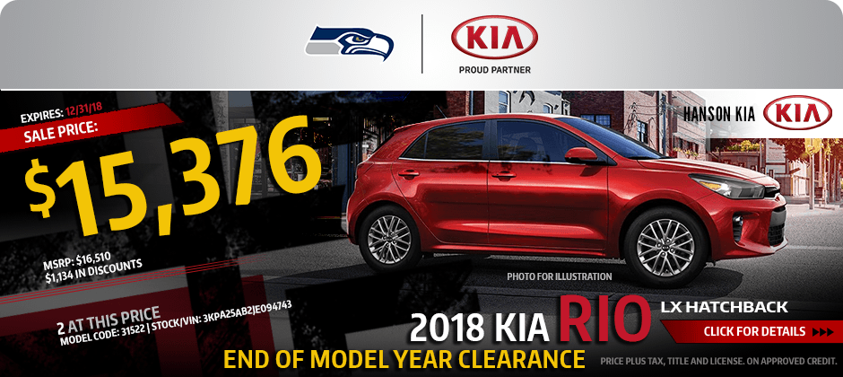 2018 Kia Rio LX Hatchback Special purchase savings offer in Olympia, WA