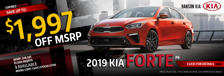 2019 Kia Forte Fe Special purchase savings offer in Olympia, WA