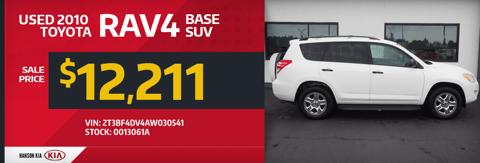 Used 2010 Toyota RAV4 Base SUV Special in Olympia, WA