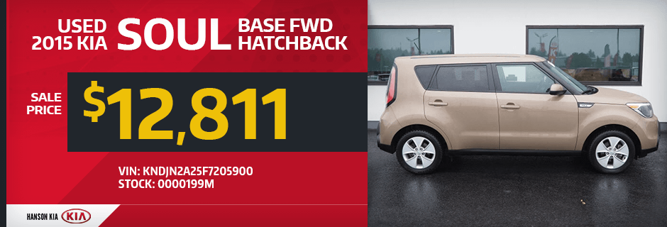 2015 Kia Soul Base FWD Hatchback Sales Special in Olympia, WA