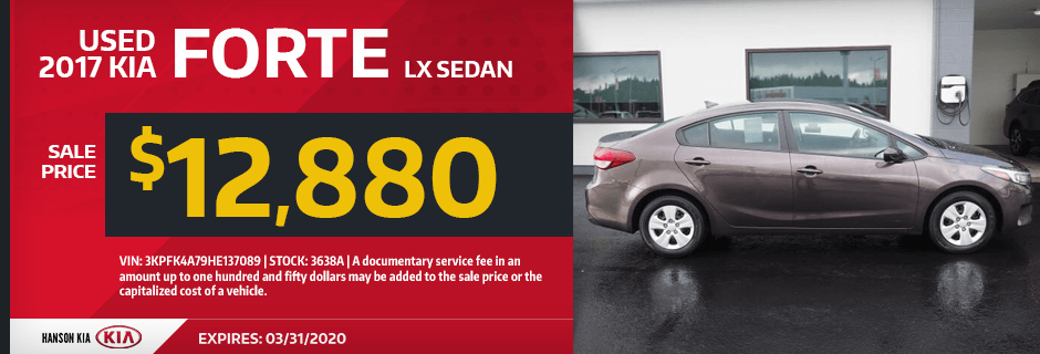 Used 2017 Kia Forte LX Sedan Special in Olympia, WA