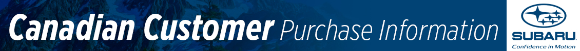 Hanson Subaru Canadian Buyers Program