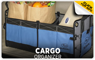 Click for more information on genuine Subaru cargo organizer available at Hanson Subaru in Olympia, WA