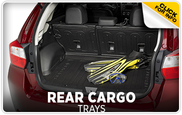 Click for more information on genuine Subaru rear cargo trays available at Hanson Subaru in Olympia, WA
