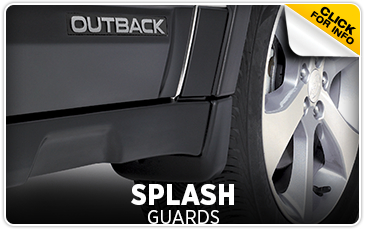 Click for more information on genuine Subaru splash guards available at Hanson Subaru in Olympia, WA