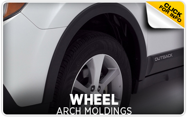 Click for more information on genuine Subaru wheel arch moldings available at Hanson Subaru in Olympia, WA