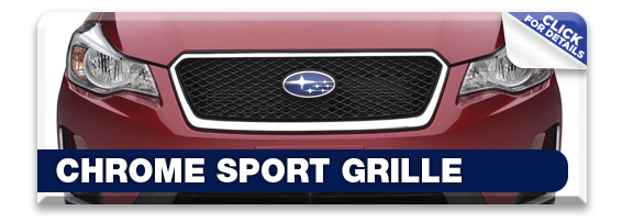 Click to view our Subaru chrome sport grille performance parts information in Olympia, WA