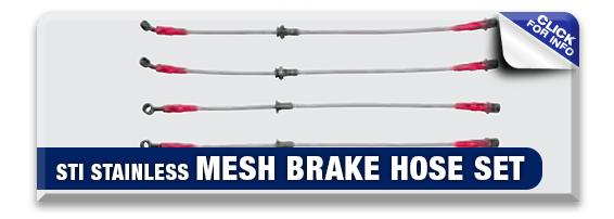 Click to view our STI Stainless Mesh Brake Hose Set information at Hanson Subaru in Olympia, WA