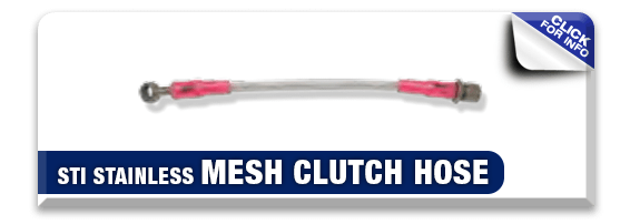 Click to view our STI Stainless Mesh Clutch Hose information at Hanson Subaru in Olympia, WA