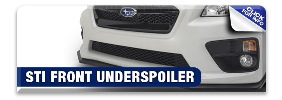 Click to research our STI Front Under Spoiler performance parts information at Hanson Subaru in Olympia, WA