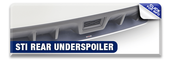 Click to research our STI Rear Under Spoiler performance parts information at Hanson Subaru in Olympia, WA