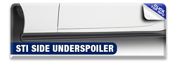 Click to research our STI Side Under Spoiler Kit performance parts information at Hanson Subaru in Olympia, WA