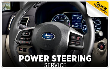 Find out more about Subaru Power Steering service from Hanson Subaru in Olympia, WA
